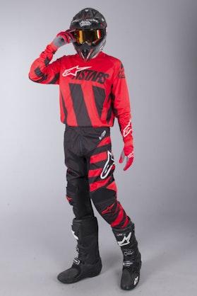 MX Oblečení Alpinestars Racer Braap Černé-Červené-Bílé