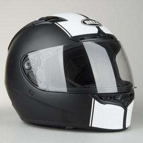 Helma Bell Qualifier DLX Matná Černá-Bílá