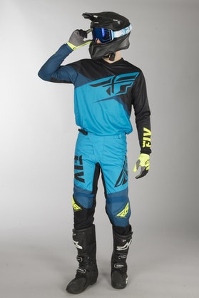 Fly F-16 MX Clothes Blue-Black-HiVis