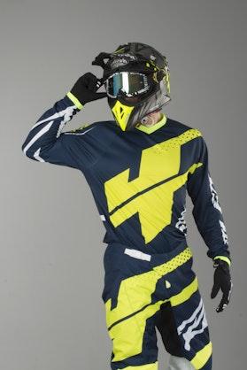Bluza Cross JT Racing Flex Hi-Lo Granatowo-Niebiesko-Neon-Żółta