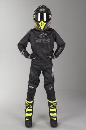 Alpinestars Racer Graphite Kid's MX Clothing Black-Dark Gray