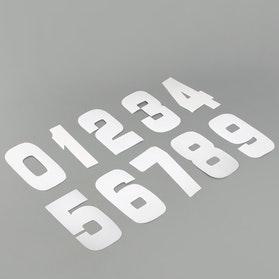 Naklejki cyfry 9 cm, białe