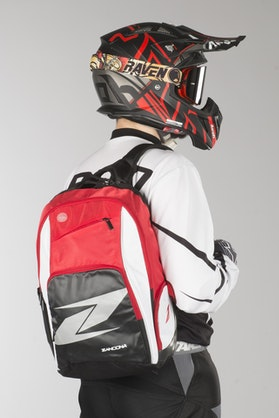 Zandona Sport Backpack Black-White-Red