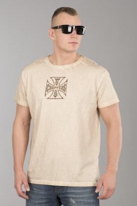 T-Shirt West Coast Choppers Chopper Dog Jasnobrązowy