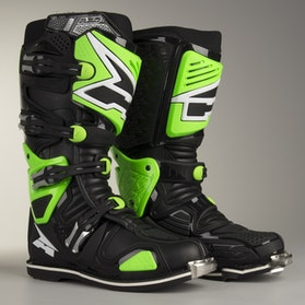 AXO A2 MX Boots Black & Green