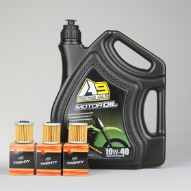 A9 Racing Oil optimised for Kawasaki 4L + 3 Pack Oil Filters