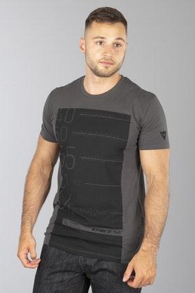 T-Shirt Dainese Lean-Angle Szary