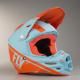 FLY F2 Rewire Cross-Helmet Blue-Orange