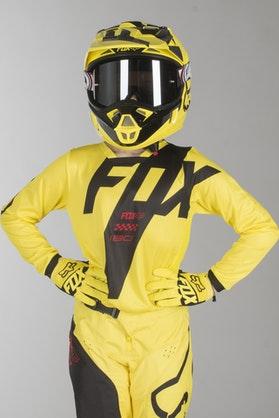 Motokrosový Dres Fox 180 Mastar Dětský Žlutý