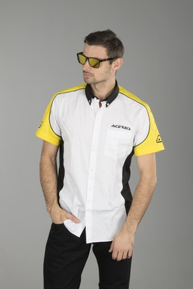 Acerbis Racing Short Sleeved Shirt White-Black