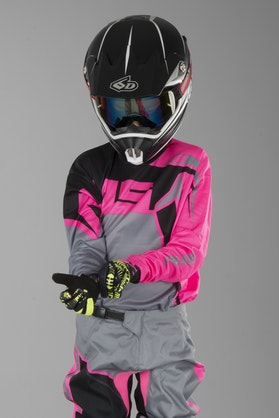 Alias A2 Burst Children's MX Jersey Grey-Pink