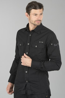 Brandit Slim Men Shirt - Black