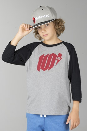 100% Youth Bolt T-Shirt Heather Grey