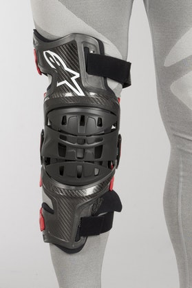 Ochraniacz Kolana Alpinestars Bionic-10 Right Czarno-Czerwony