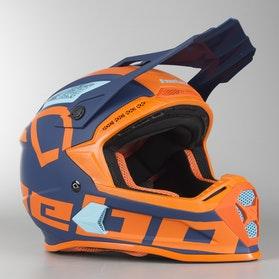 Kask Cross Hebo MX Factor Pomarańczowy
