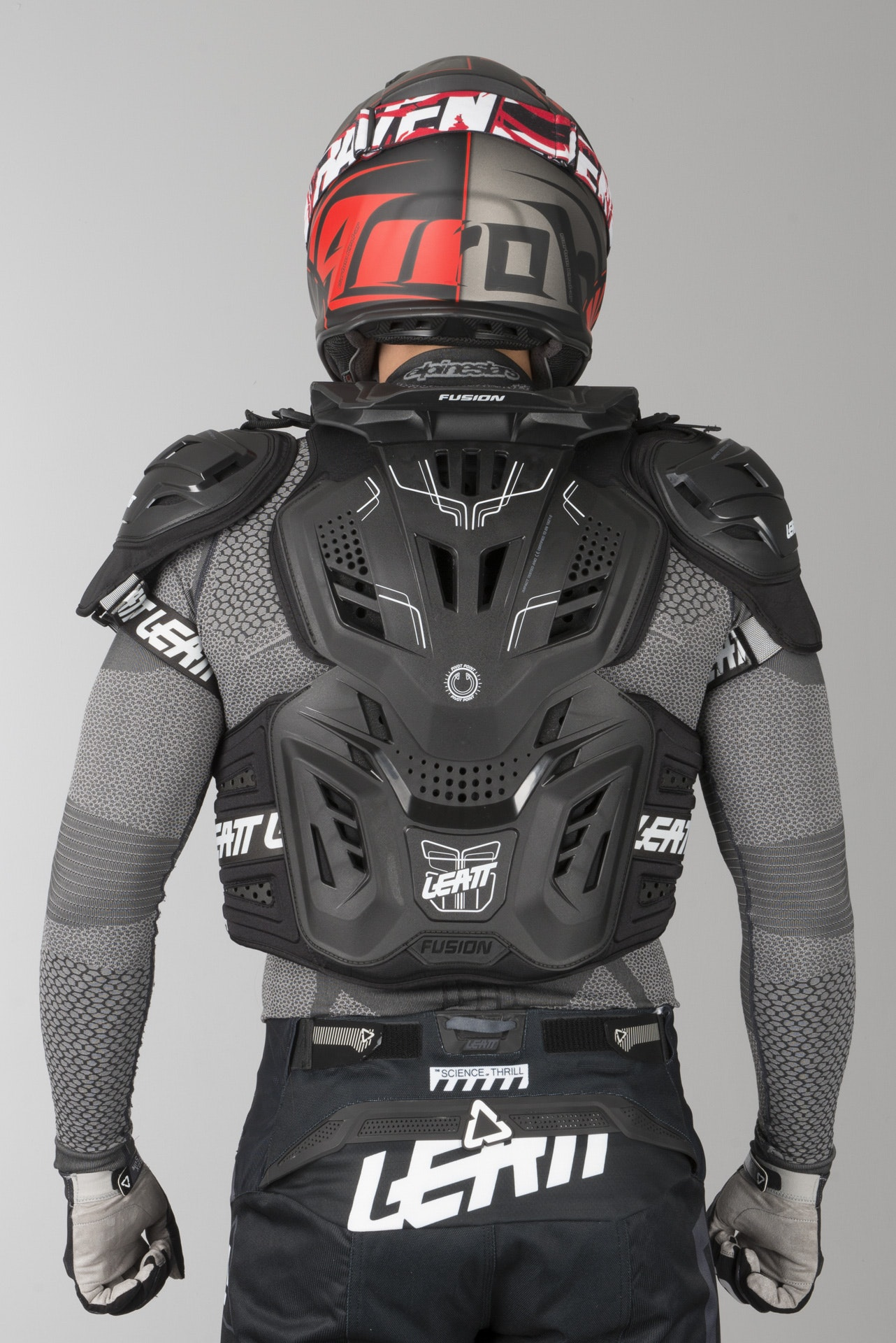Black, XX-Large Leatt Fusion 3.0 Vest