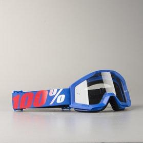 Briller junior 100% Strata Nation, klart glas, blå/rød