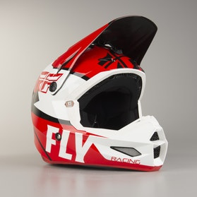 FLY Elite Guild MX Helmet Red-White-Black