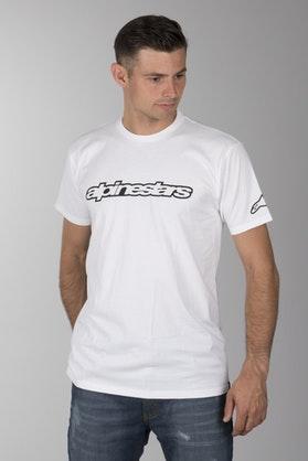 T-Shirt Alpinestars Wordmark Biały