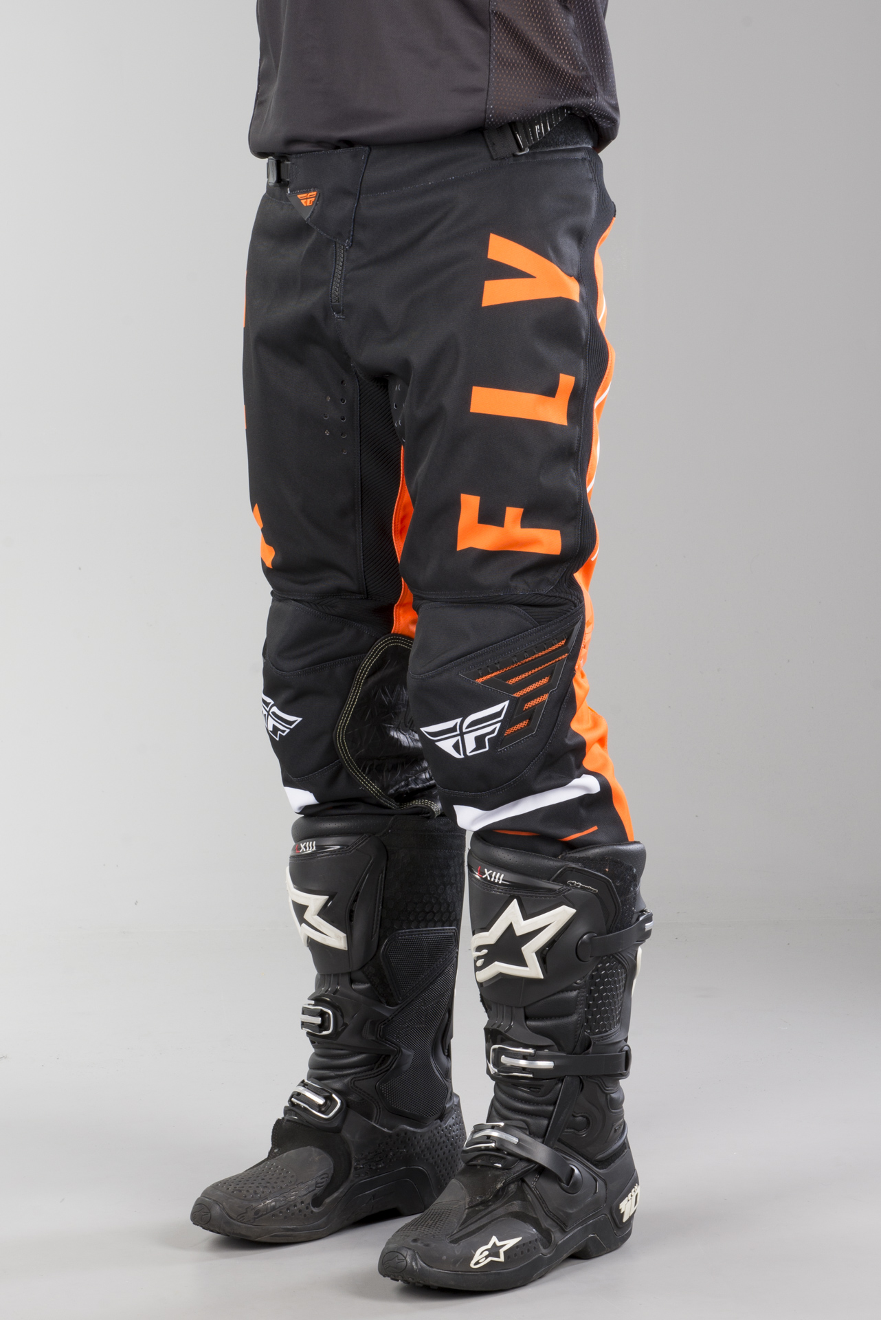 "32/"" Pants FLY Kinetic Glitch MX Motorbike Black White Orange"