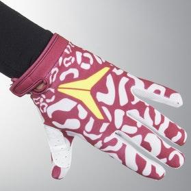 Alias Youth AKA Cheetah Gloves Maroon-White
