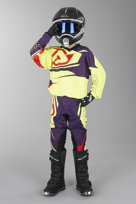 Acerbis Spellblast MX Youth Motocross Kit Yellow-Purple