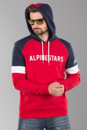 Hættetrøje Alpinestars Leader Hoodie, Rød