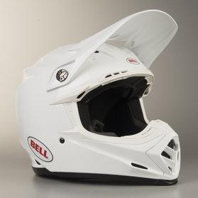 Kask Cross Bell Moto-9 MIPS Solid Biały