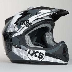 Kask cross IXS HX 278 Tiger Czarny-Szary-Biały Dziecko