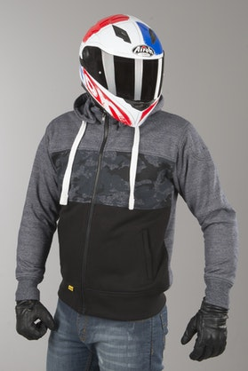 Booster Triple Aramid-Reinforced Hoodie Camo-Blue