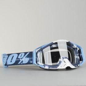 Gogle Cross 100% Racecraft TieDye Niebieskie