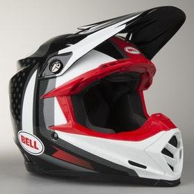Crossová Helma Bell Moto-9 Flex Vice Černá-Bílá
