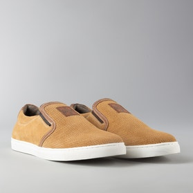 Buty West Coast Choppers Outlaw Suede Slip-on Brązowe
