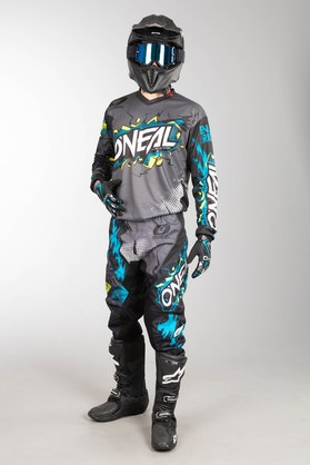 Motokrosové Oblečení O'Neal Element Villain Šedá