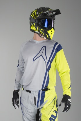 Alias A1 Offset Jersey Grey-Chartreuse