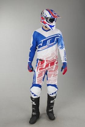 Crossové Oblečení & Helma JT Racing Prime Červená-Bílá-Modrá