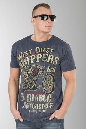 T-Shirt West Coast Choppers El Diablo Niebieski