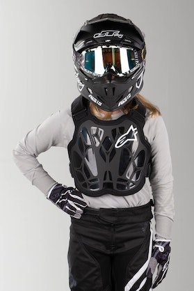 Brynje Alpinestars A-8 Light Barn Sort-Hvid-Rød