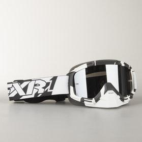 Crossové Ochranné Brýle FXR Mission Recon Černá-Bílá