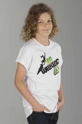 Acerbis Youth Yes Weekend T-Shirt White