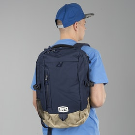 100% Transit Backpack Navy Blue