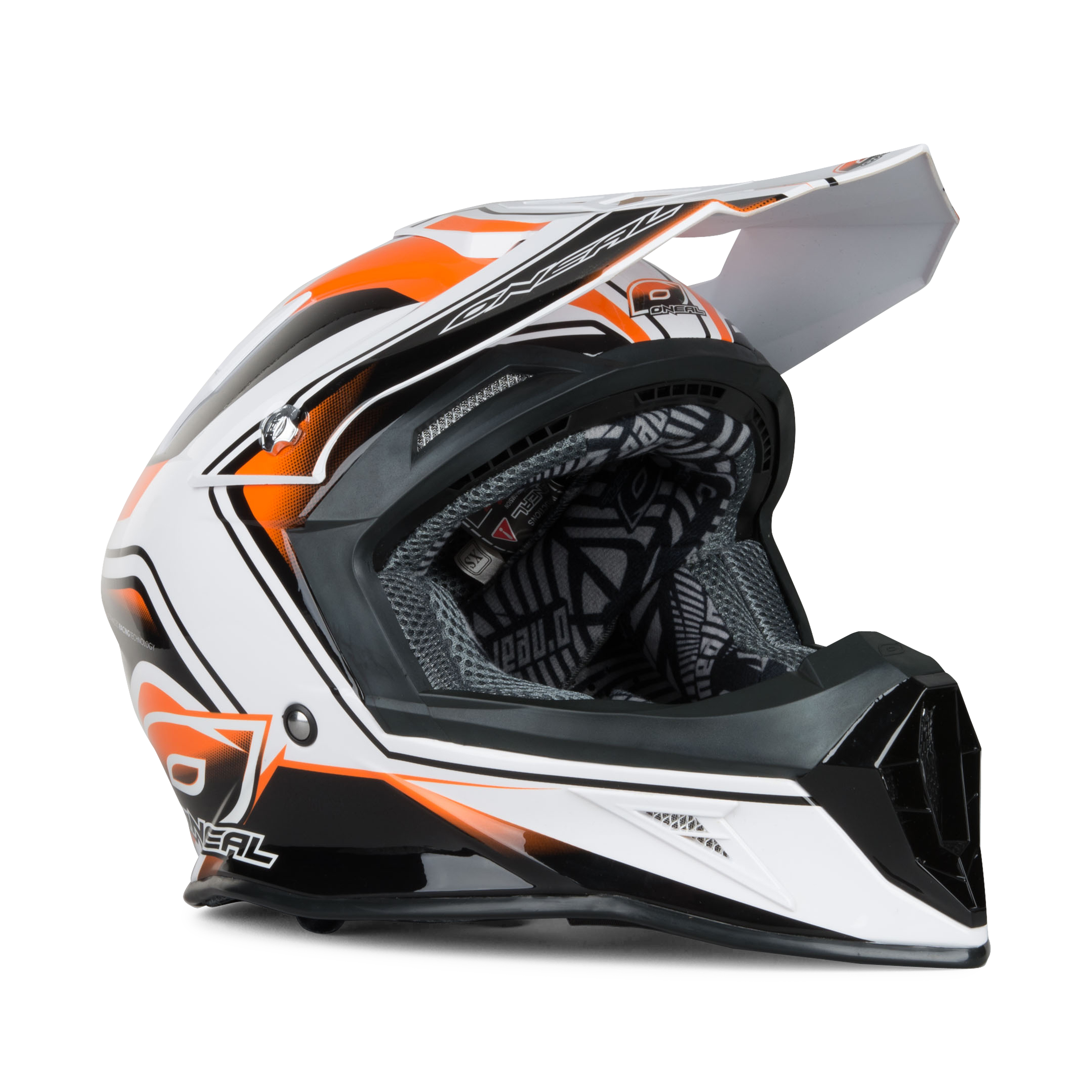 O/'Neal 10Series MX Helm Cahuilla Creek schwarz//weiss M Enduro Motocross Motorrad