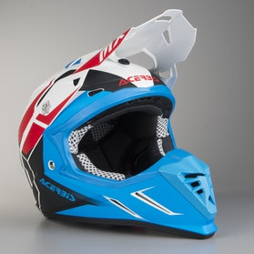 Acerbis Profile 3.0 Snapdragon Cross-Helmet White-Blue