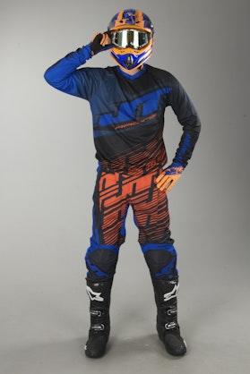 Crossové Oblečení & Helma JT Racing Prime Navy-Oranžová-Černá
