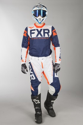 FXR Helium Air MX Clothes Navy Blue-White-Orange