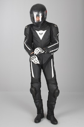 Dainese Assen Perf. Leathers Black-White