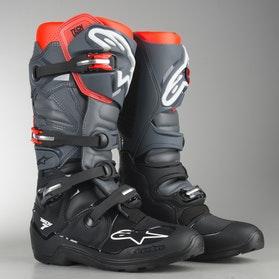 Motokrosové boty Alpinestars Tech 7 Enduro Černo-Šedo-Neonově Červená