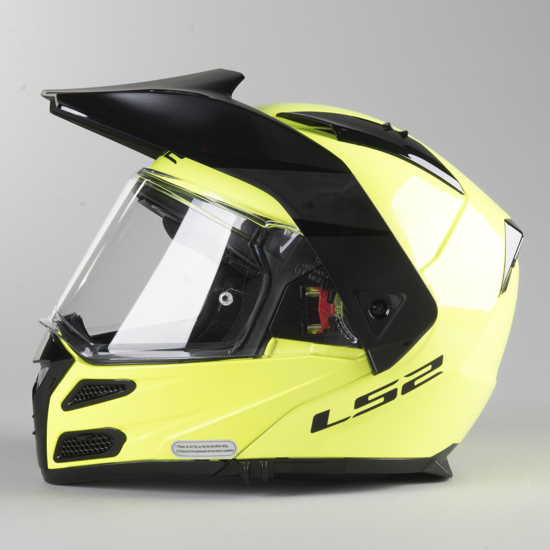 Schwarz XL LS2 Motorradhelm FF324 METRO EVO MATT Schwarz P//J