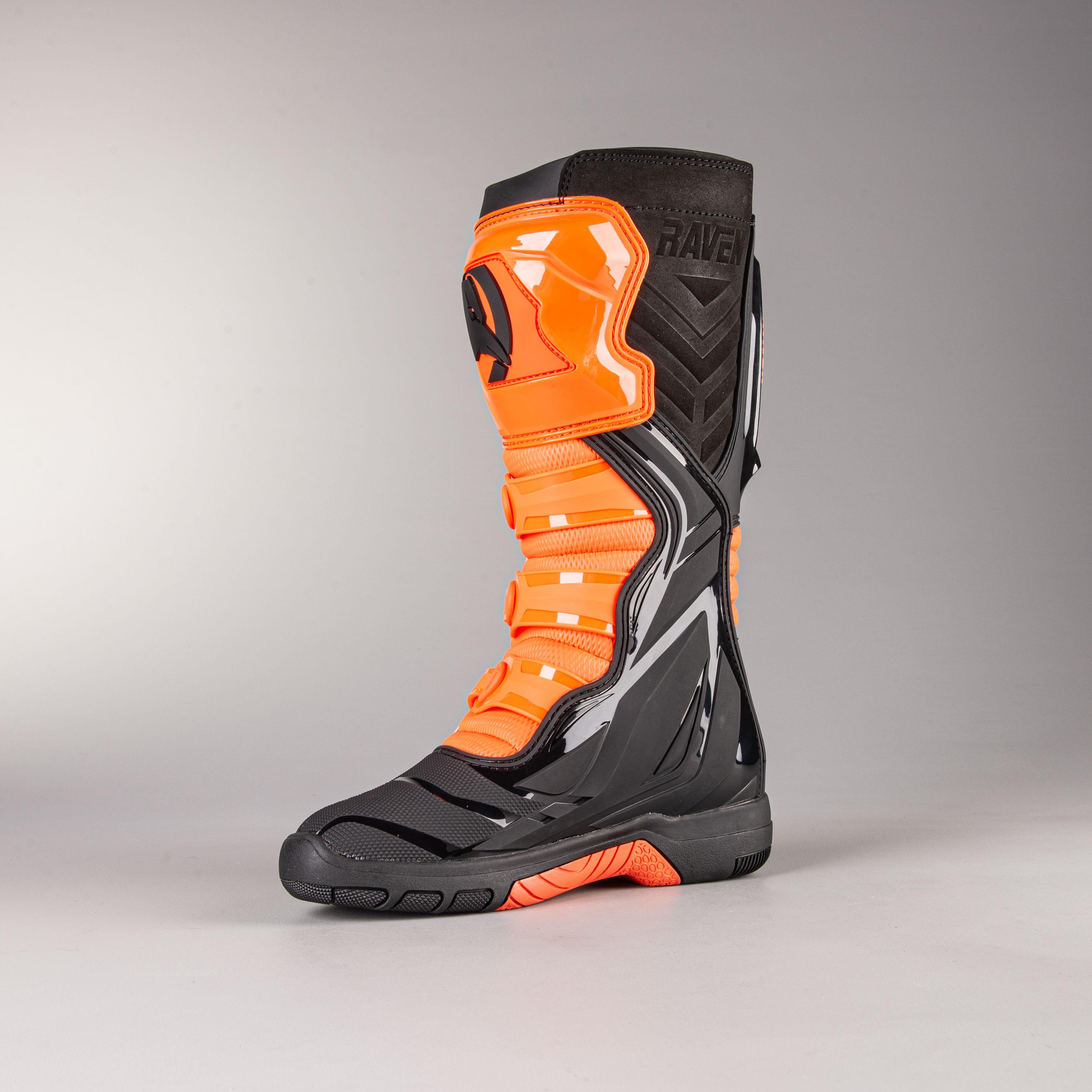 Raven Commander MX Boots Black-Orange
