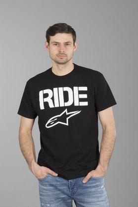 T-Shirt Alpinestars Ride Solid Czarno-Biały
